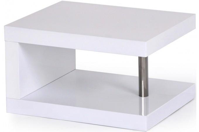 chevet blanc pied chrom table de chevet pas cher. Black Bedroom Furniture Sets. Home Design Ideas