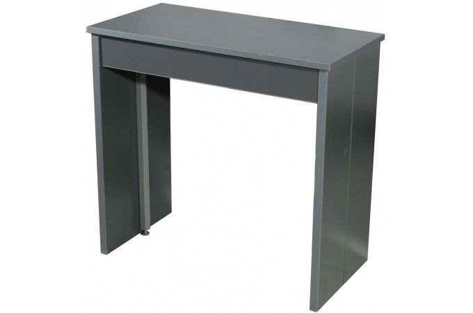 console extensible 3 allonges grise table console pas cher. Black Bedroom Furniture Sets. Home Design Ideas