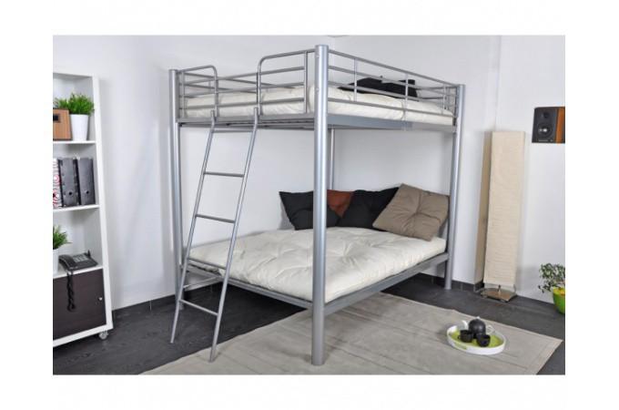 lits superpos s argent 2 lits doubles 140x190 dream lit design pas cher. Black Bedroom Furniture Sets. Home Design Ideas