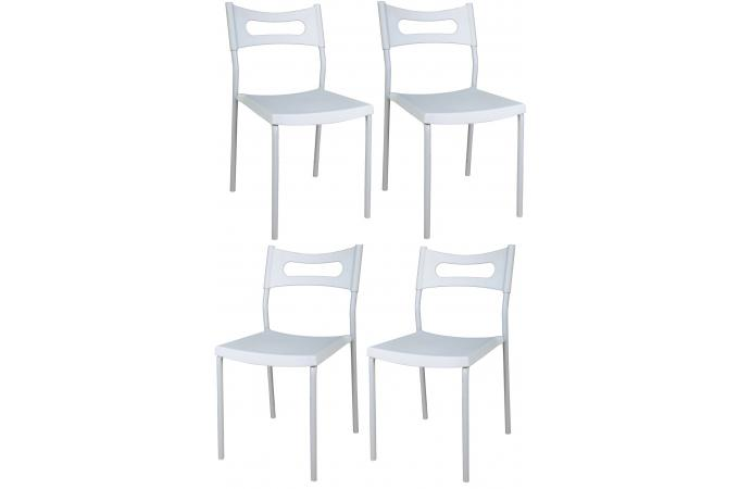 Lot de 4 chaises empilables blanches chaise pliante pas cher - Chaise pliante blanche pas cher ...
