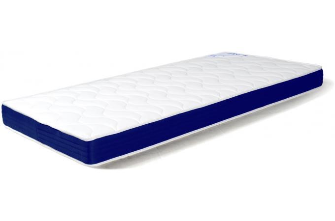 matelas mousse epaisseur 10 cm m moire de forme avec bande piqu e bleu 90x190 ebay. Black Bedroom Furniture Sets. Home Design Ideas