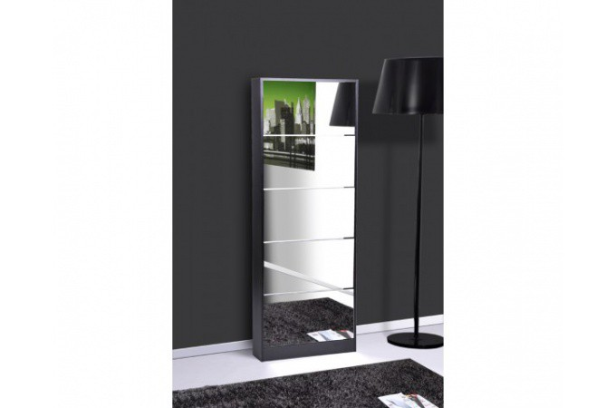 meuble chaussures noir maison design. Black Bedroom Furniture Sets. Home Design Ideas