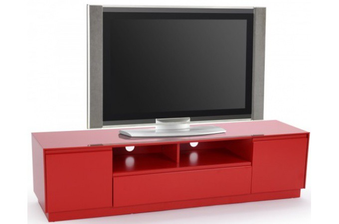 Declikdeco meuble tv rouge supplier cheap e deals for Meuble tv rouge