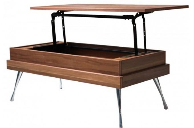 Table basse plateau relevable noir 120x60 achat vente - Table basse a plateau relevable ...