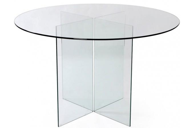 table repas ronde en verre transparent otta table. Black Bedroom Furniture Sets. Home Design Ideas