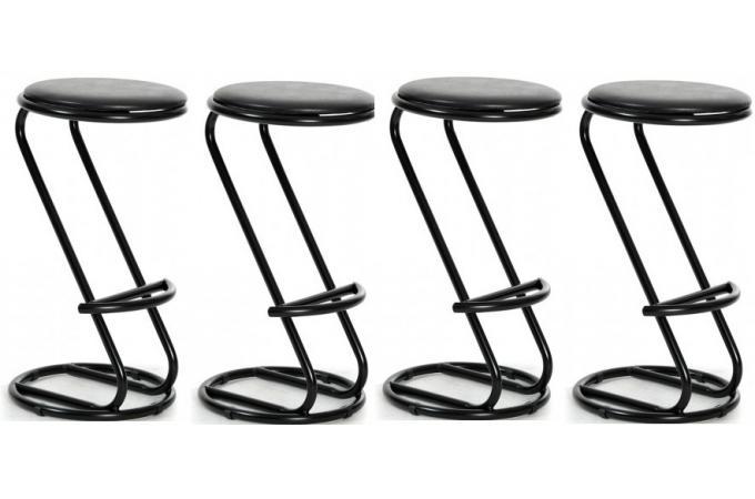 tabouret de bar noir rond lot de 4 tabouret de bar pas cher. Black Bedroom Furniture Sets. Home Design Ideas