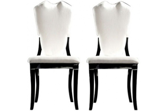 Declikdeco buy online cheap e deals l19 - Chaises blanches simili cuir ...