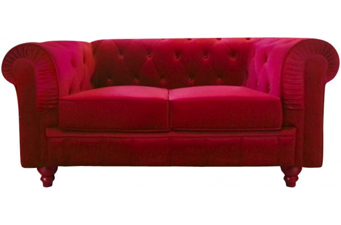 Canap chesterfield velours rouge 2 places canap s 2 et 3 places pas cher for Canape convertible velours rouge