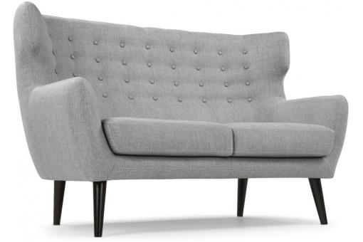 canap scandinave 2 places depalma tissu gris canap 2 places pas cher. Black Bedroom Furniture Sets. Home Design Ideas
