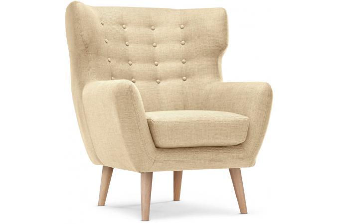 fauteuil scandinave depalma tissu beige fauteuil design pas cher. Black Bedroom Furniture Sets. Home Design Ideas