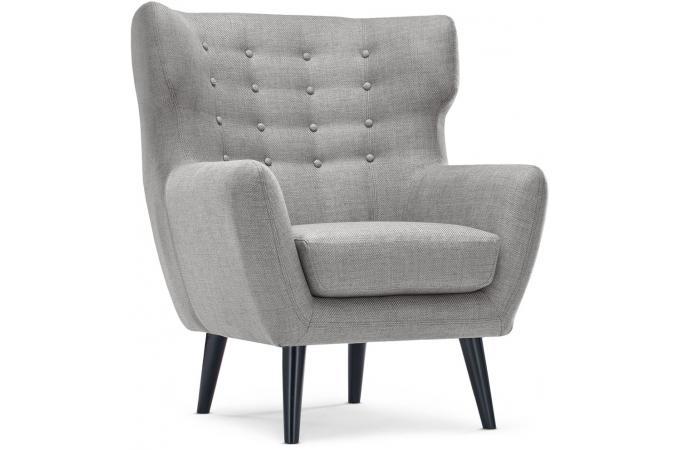 Fauteuil scandinave depalma tissu gris fauteuil design - Fauteuil style scandinave pas cher ...