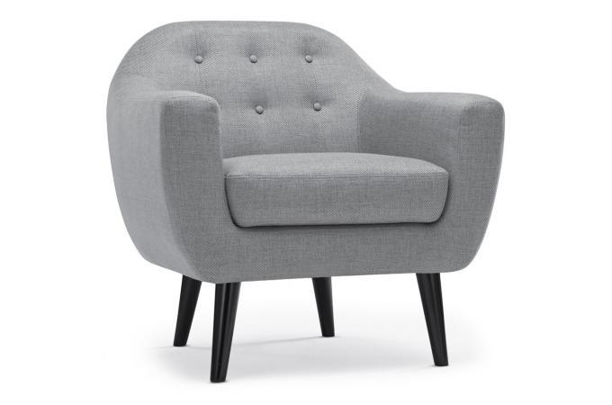 fauteuil scandinave fidelio tissu gris clair fauteuil design pas cher. Black Bedroom Furniture Sets. Home Design Ideas