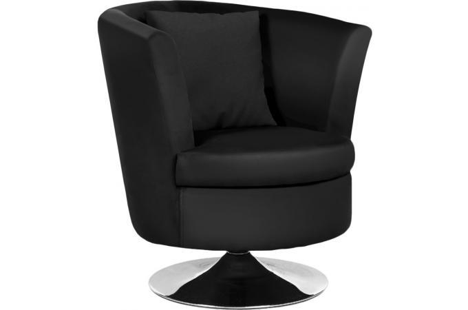 fauteuil tournant pivotant charlie noir fauteuil design pas cher. Black Bedroom Furniture Sets. Home Design Ideas
