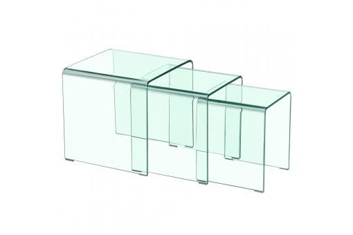Table basse gigogne transparente table basse pas cher for Table chevet transparente