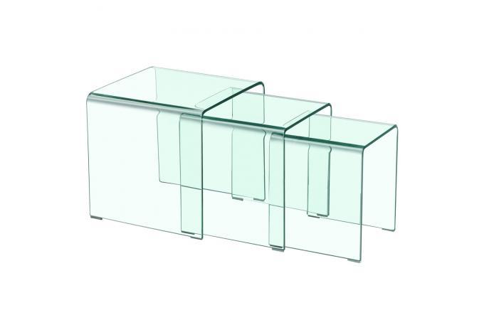table basse gigogne transparente table basse pas cher. Black Bedroom Furniture Sets. Home Design Ideas