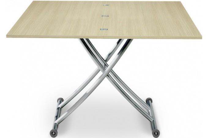 Table basse relevable rallonge bois ch ne clair ella - Menzzo table basse relevable extensible ...