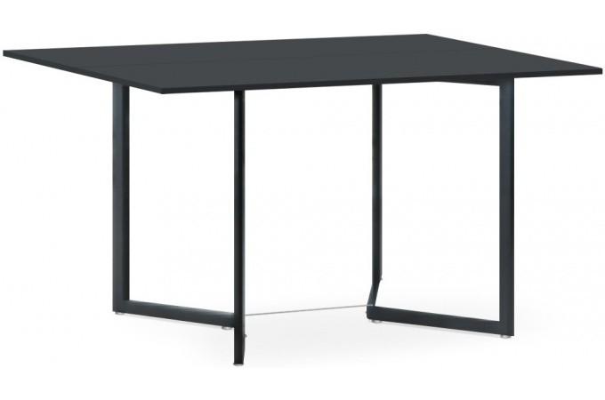 table pliante noire en bois adonia table d 39 appoint pas cher. Black Bedroom Furniture Sets. Home Design Ideas