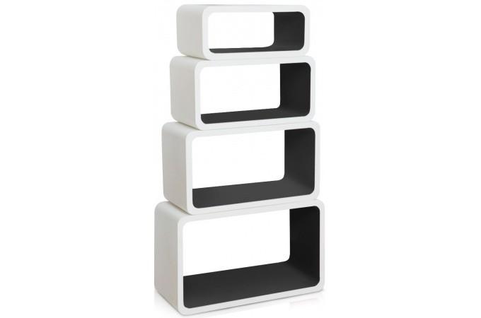tag re biblioth que noire en bois april etag re pas cher. Black Bedroom Furniture Sets. Home Design Ideas