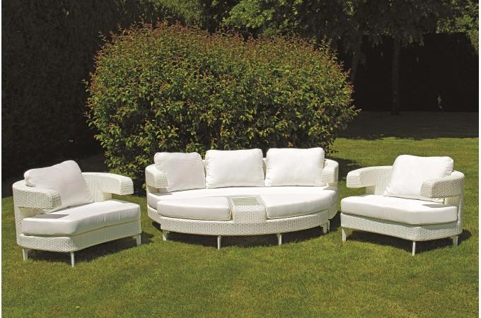 Salon de jardin blanc en résine Adda - Salon de Jardin Pas ...