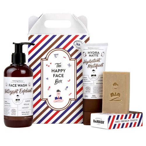 Monsieur Barbier - Coffret de soin visage au naturel HAPPY FACE - Rasage monsieur barbier