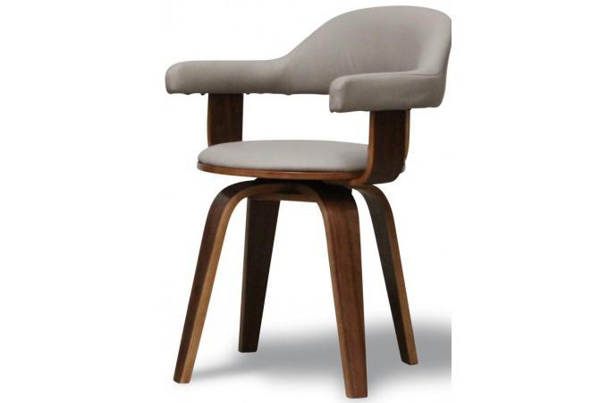 chaise taupe en simili cuir sweden chaise design pas cher. Black Bedroom Furniture Sets. Home Design Ideas