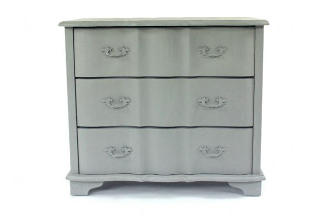 Commode bois peint grise commode pas cher for Deco commode chambre