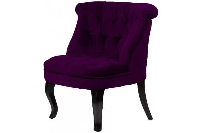 Fauteuil crapaud capitonn en velours prune achat fauteuil crapaud trianon - Fauteuil crapaud prune ...
