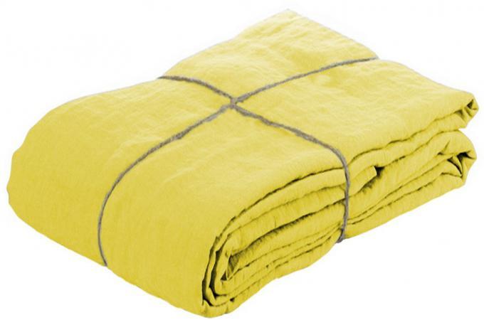 housse de couette lin lave 220x240 citronnelle housse de couette et taie d 39 oreiller pas cher. Black Bedroom Furniture Sets. Home Design Ideas
