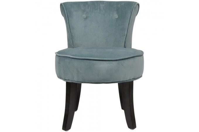 petit fauteuil crapaud bleu azur velours charles fauteuil crapaud pas cher. Black Bedroom Furniture Sets. Home Design Ideas