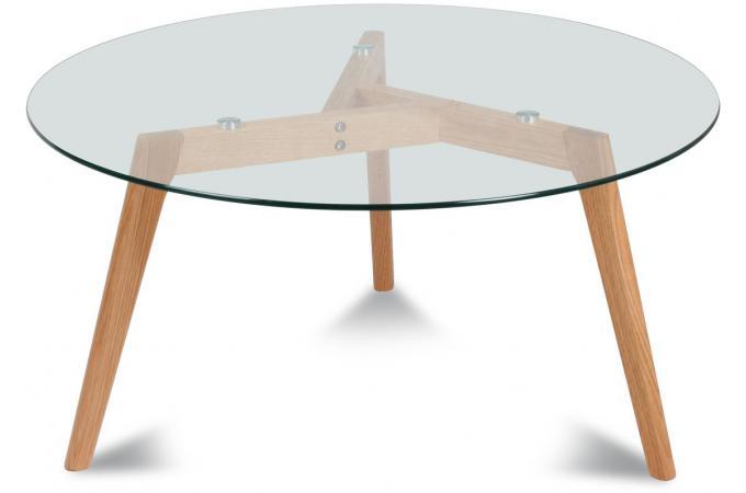 Table basse ronde d90cm h45cm table basse pas cher - Table basse style industriel pas cher ...