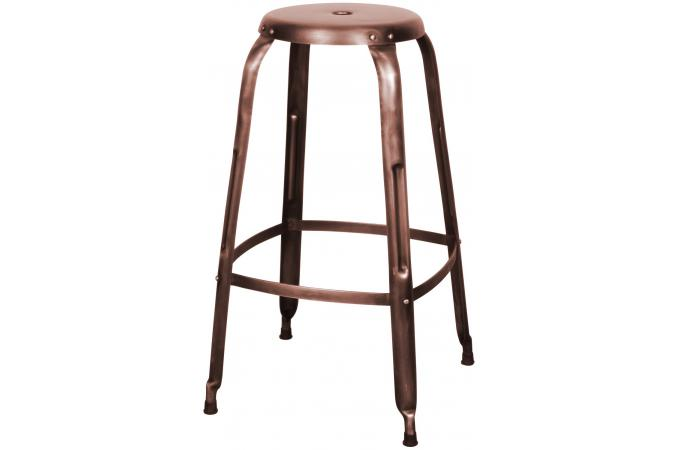 tabouret de bar rondo cuivre antique tabouret de bar pas cher. Black Bedroom Furniture Sets. Home Design Ideas
