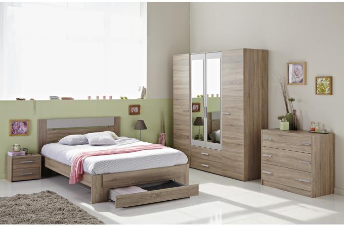 chambre compl te adulte en ch ne brut cozy chambre compl te adulte pas cher. Black Bedroom Furniture Sets. Home Design Ideas