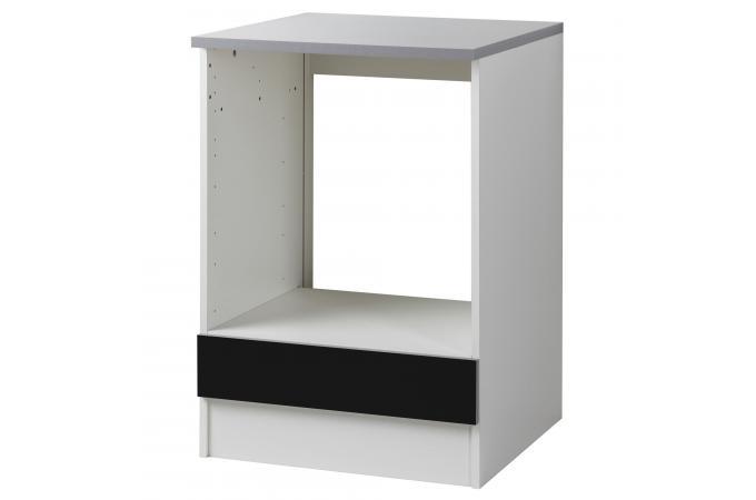 element bas de cuisine four avec tablette amovible noir meuble de rangement pas cher. Black Bedroom Furniture Sets. Home Design Ideas