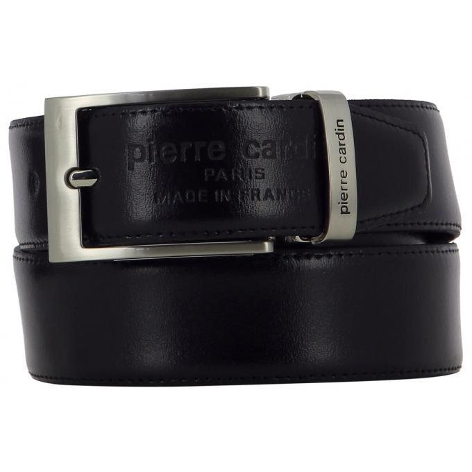 4c95f1614099f COFFRET CEINTURE REVERSIBLE DEUX BOUCLES - Cuir Noir Marron Pierre ...