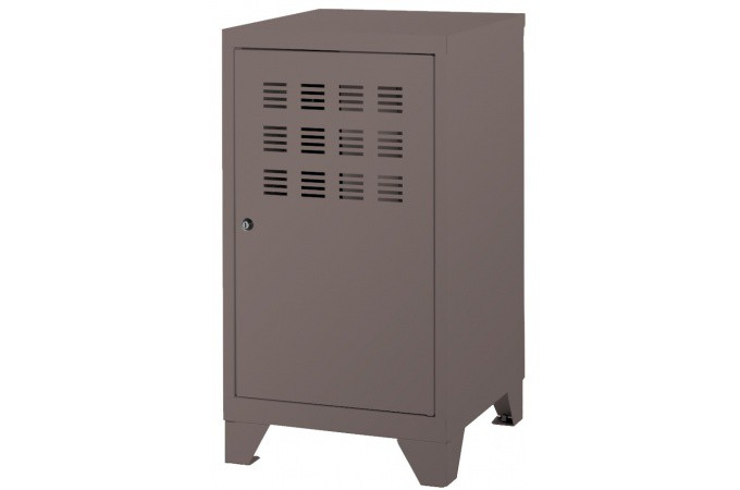 Armoire mm taupe en m tal leaticia meuble de rangement pas cher - Armoire couleur taupe ...
