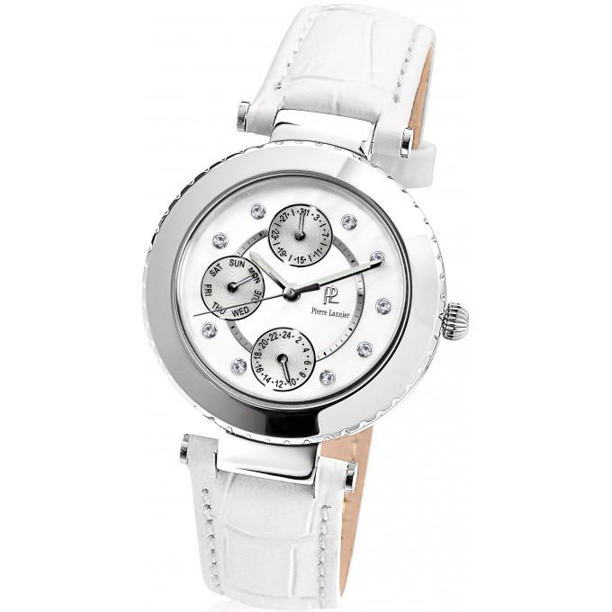 promotion Montre Pierre Lannier 101F600 - Montre Bracelet Cuir Blanche Femme
