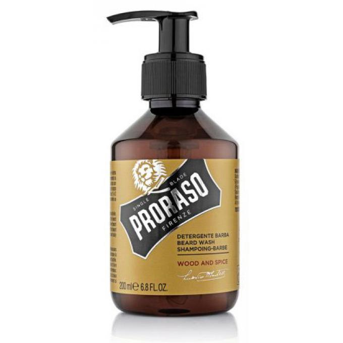 Shampoing à Barbe 200ml Wood & Spice Proraso