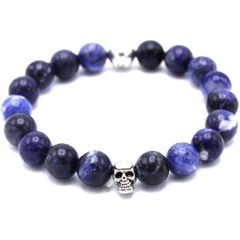 Bracelet perle homme bleu