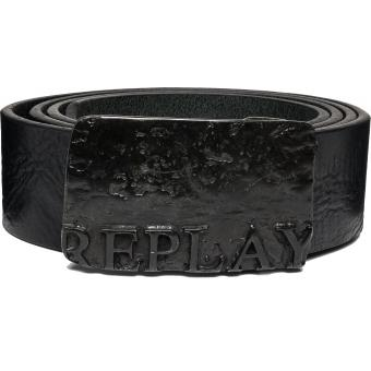 Ceinture Cuir Boucle Plaque Replay