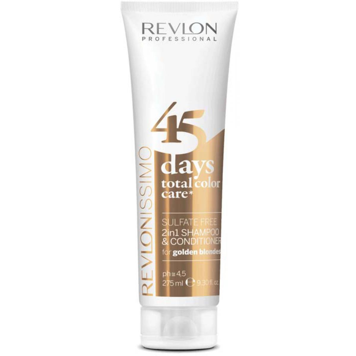 Color Care 45 Days Shampoing et Soin Golden Blondes - Couleur Blond Chaud Revlon