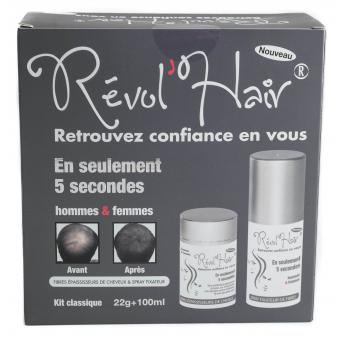 COFFRET DENSIFICATEUR CAPILLAIRE 22G & SPRAY FIXANT BLANC Revol Hair