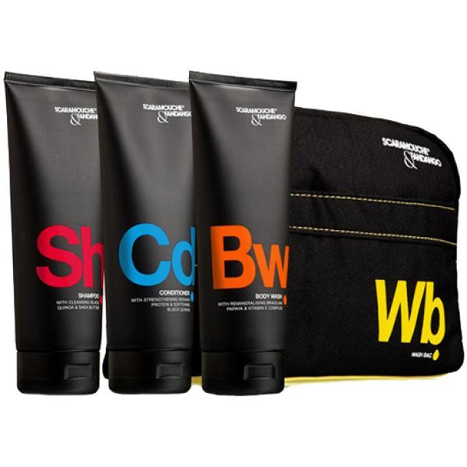kit pour la douche shampoing apr s shampoing gel douche trousse scaramouche fandango. Black Bedroom Furniture Sets. Home Design Ideas