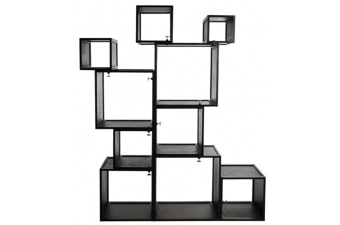 Cubes modulables noirs alfred seletti meuble de rangement pas cher - Meubles cubes modulables ...