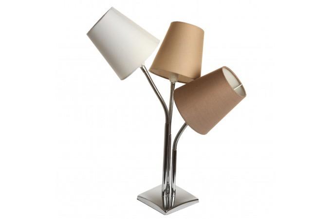 lampe de table 3 en 1 bicolore en acier lodie lampe poser pas cher. Black Bedroom Furniture Sets. Home Design Ideas