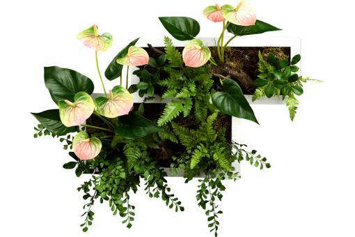 cadre v g tal plante artificielle anthurium plantes artificielles pas cher. Black Bedroom Furniture Sets. Home Design Ideas