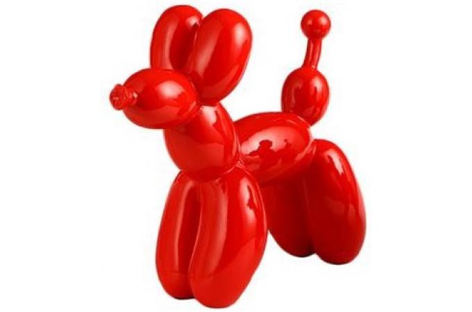 sculpture de chien rouge statue design pas cher. Black Bedroom Furniture Sets. Home Design Ideas