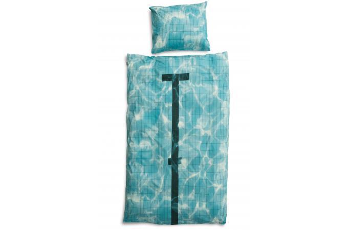 parure coton piscine housse de couette 140x200 et 1 taie d 39 oreiller 65x65 housse de couette. Black Bedroom Furniture Sets. Home Design Ideas
