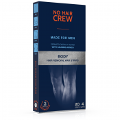 The Powder Company - No Hair Crew bandes de cire pour le corps - Produit rasage the powder company