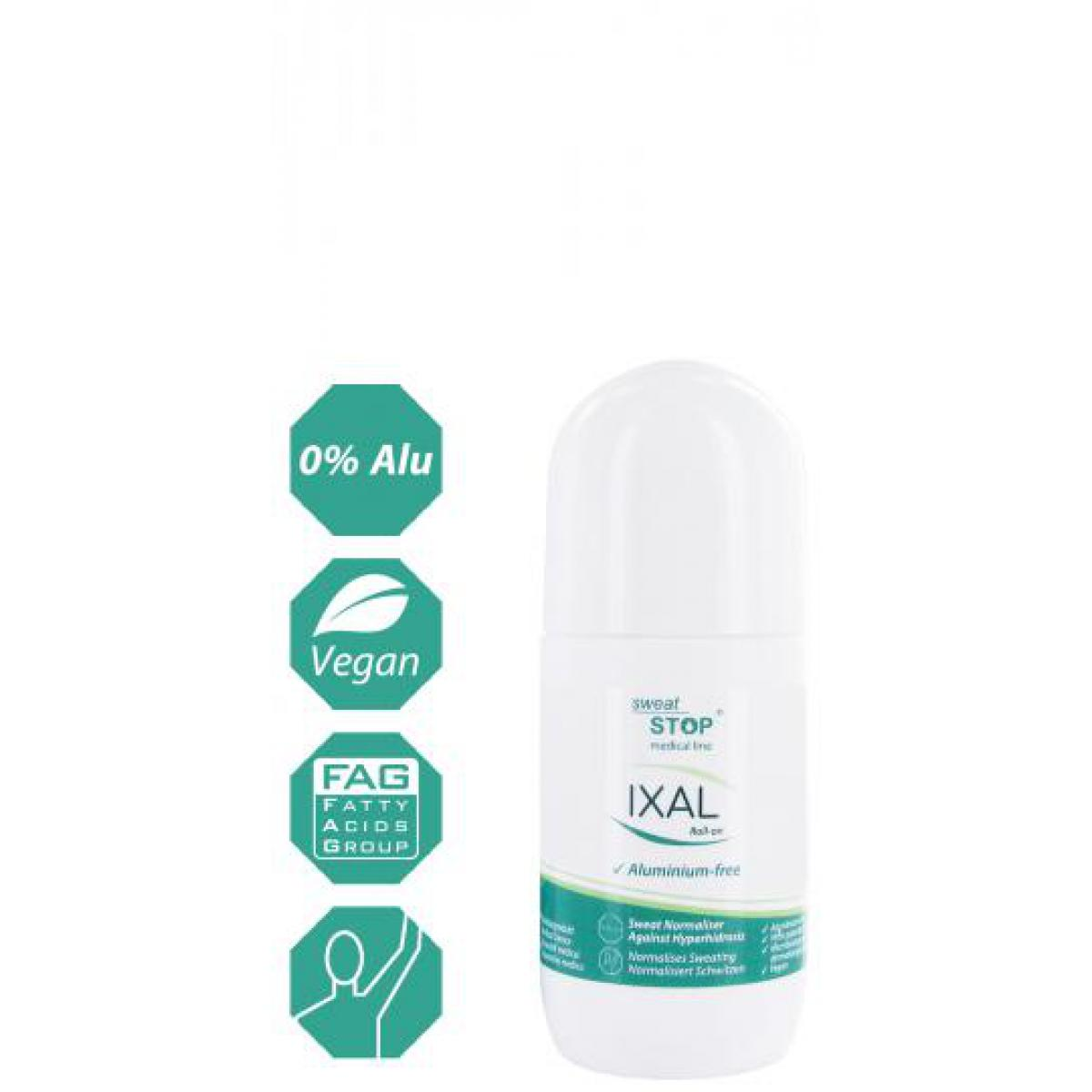 SweatStop® Ixal roll-on Antitranspirant, normalise la transpiration excessive The Powder Company