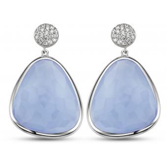 Boucles d'oreilles Bleues Argent - Ti Sento - Ti Sento
